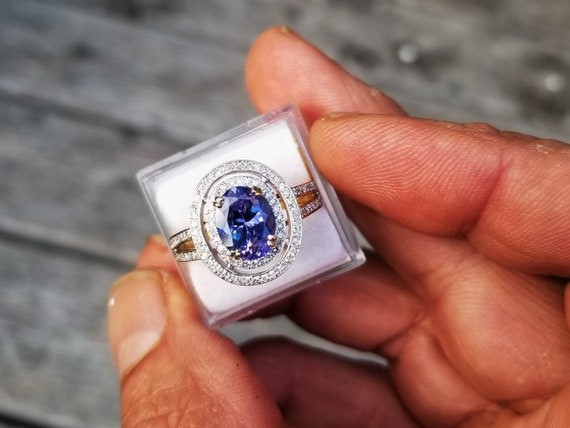 Oval Tanzanite Engagement Ring December Gemstone