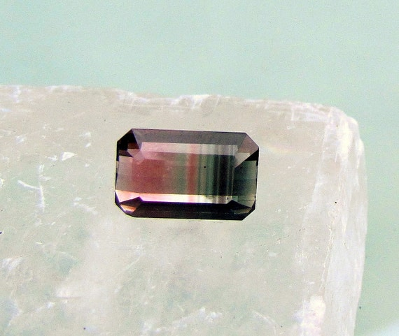 Watermelon Tourmaline 7.13cts Emerald Cut
