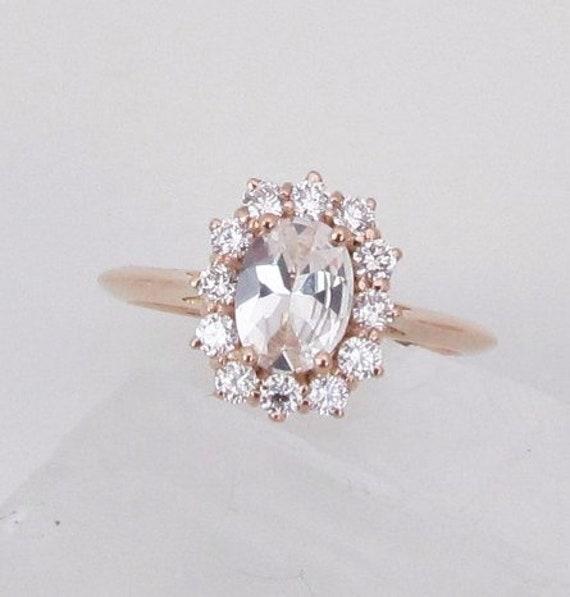 White Sapphire Rose Gold Diamond Ring
