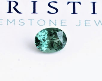 Teal Blue Green Sapphire 1.82 Cts Precision Cut Oval for Sapphire Engagement Ring