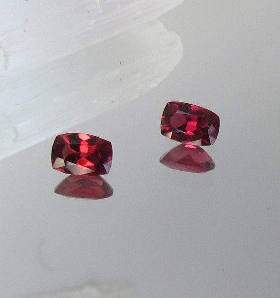 Red Spinel Pair 1.75cts tw for Gemstone Earrings