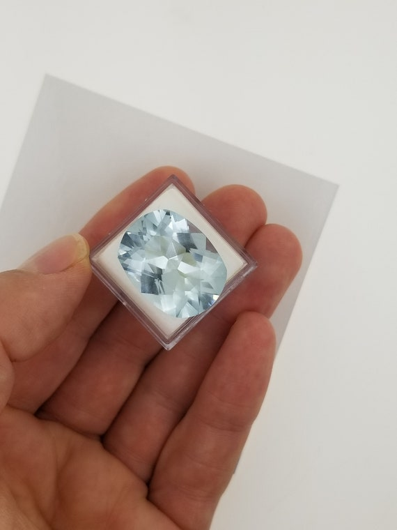 Aquamarine 19.21cts Cushion Cut March Birthstone