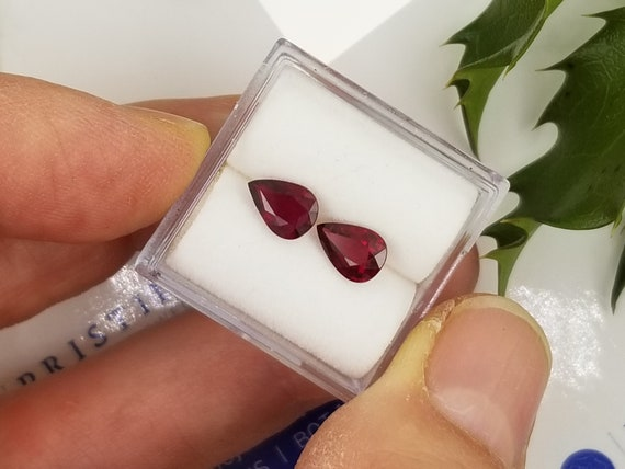 Ruby Pair 1.54cts tw Pear Shape
