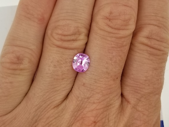 Cushion Pink Sapphire 1.29 cts for Custom Jewelry