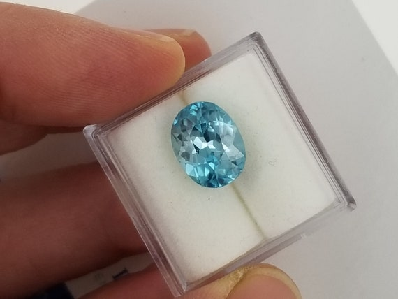 Natural Blue Zircon 4.63cts Oval