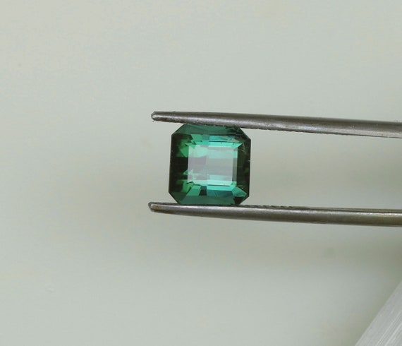 Natural Blue Green Tourmaline 7.9 x 7.7mm Square