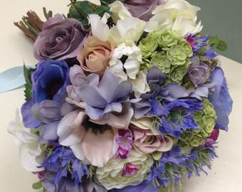 Artificial bride's bouquet.