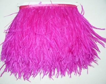 10 yards Ostrich Feather Fringe trim 10-15 cm (4-6 inch),fuchsia