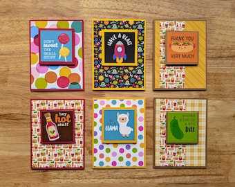 Pun-tastic Year Around Cards! Set of 6 - Thank You, Thinking of You, Love, Encouragement, Blank, Appreciation