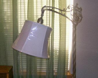 Bridge lamp shade etsy white linen lamp shade for bridge lamp new aloadofball Image collections