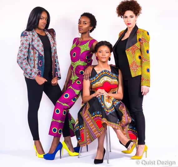 Veste Vêtements Ankara Africain Etsy Jacker qERvxqr