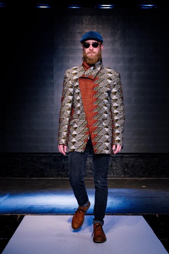 ImpriméEtsy Hommes Africain Blazer Ankara Vêtements WHIE9D2