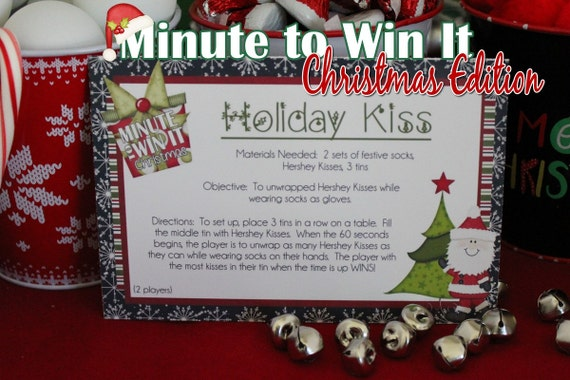 Minute To Win It Christmas.Minute To Win It Christmas Edition Printable Holiday Party Classroom Party Christmas Party Instant Download
