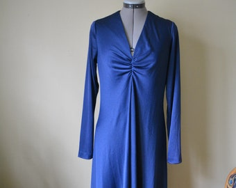 Navy Blue Maxi Dress Sz Med