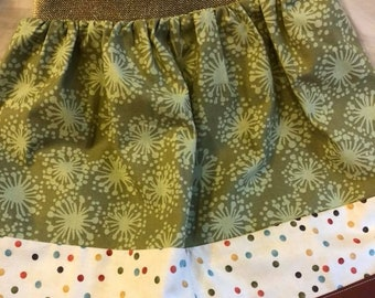 Green/Polka Dot Ensley Skirt - Fits 3-5yr