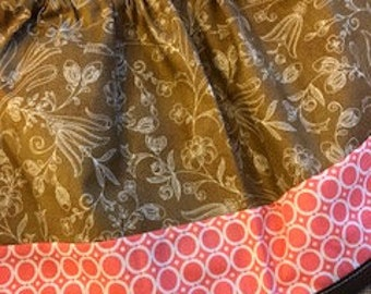 Brown/Pink Retro Ensley Skirt - Fits 3-5yr