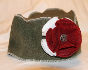 Olive Green Pillbox Hat - Adult