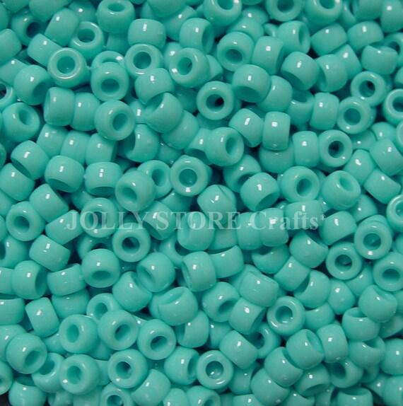 Dark Turquoise Mini Pony Beads made in USA 1000pc crafts kids school kandi