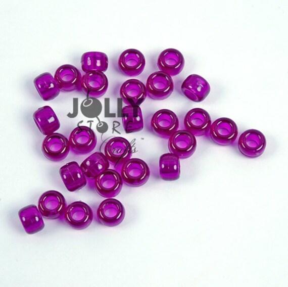 500 EMERALD 9x6mm Pony Beads for school church crafts hair kandi jewelry