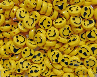 Expressions Emoji Faces 50pc Beads Made in the USA