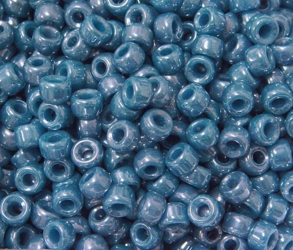 100pc Matte Black Czech Czechoslovakian Glass 9x6mm Crow Pony Beads