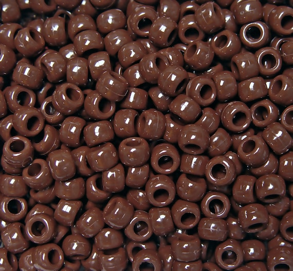 500pc Rust 9x6mm Pony Beads for school crafts hair decor kandi jewelry