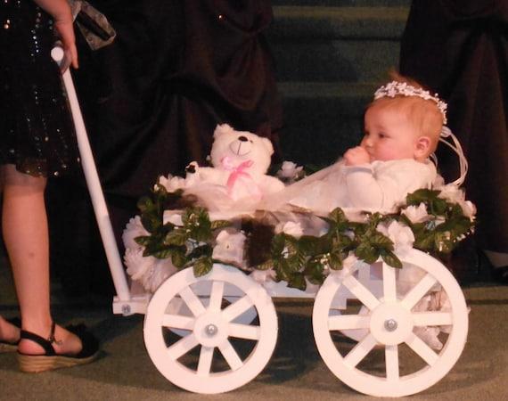 Small Flower Girl Wedding Wagon Gloss White Or Ivory Etsy