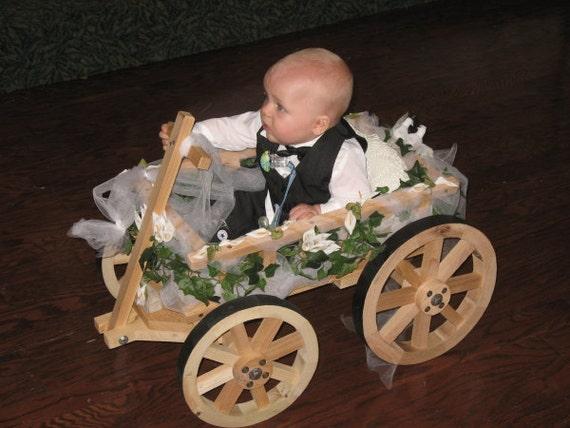 Small Flower Girl Wedding Wagon Unfinished | Etsy