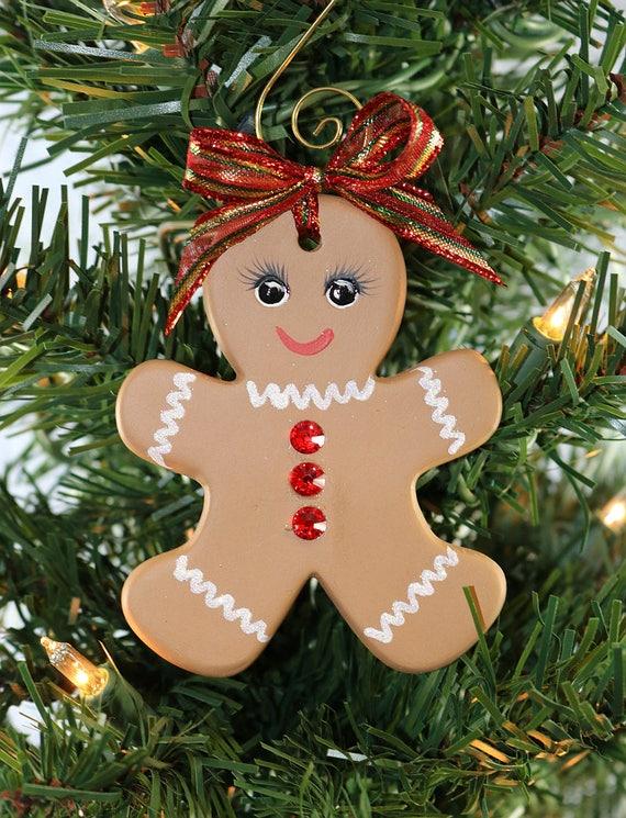 Ceramic Light Gingerbread Girl Bead
