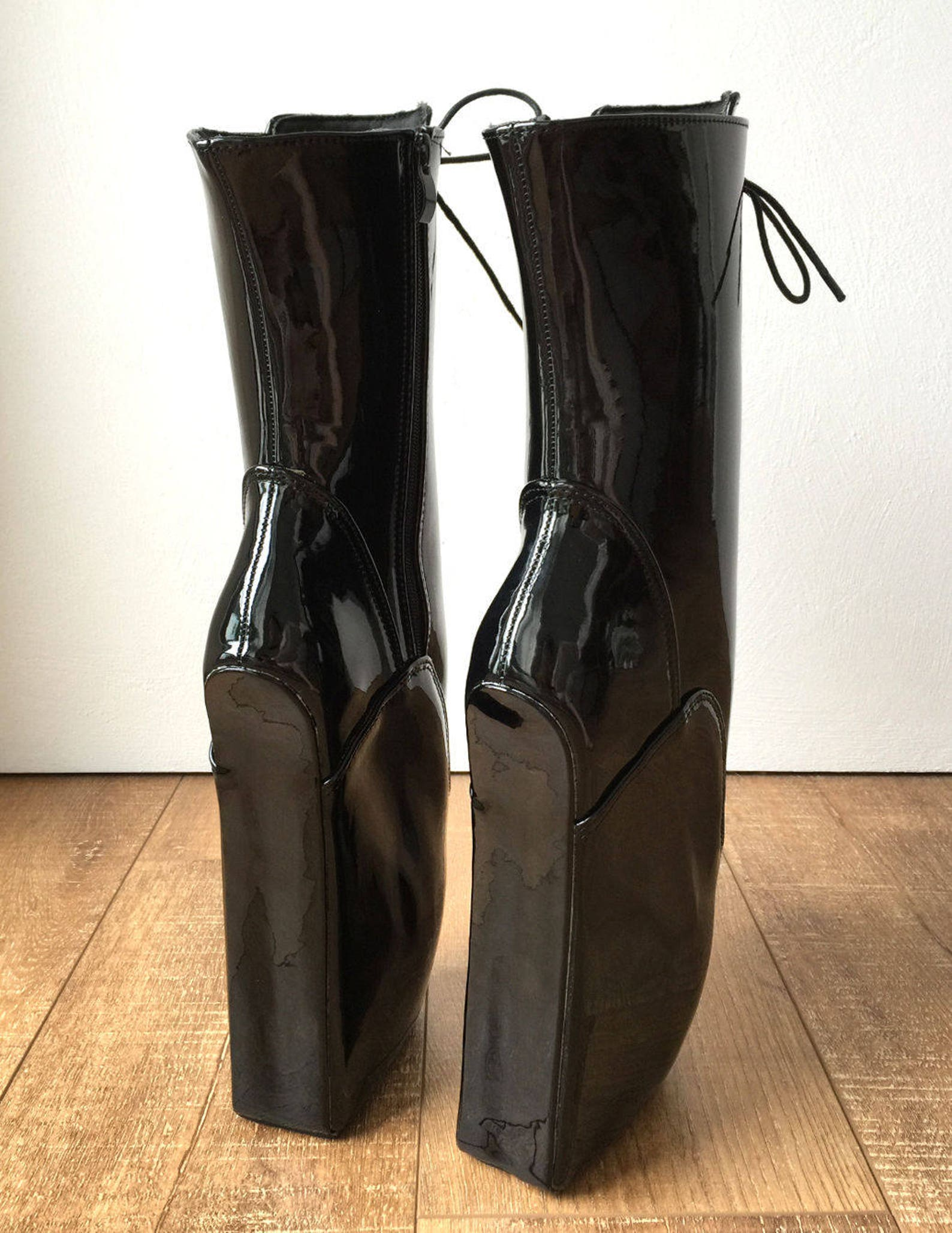 begin iii (w/ zip) ballet wedge hoof heelless fetish pointe training newbies