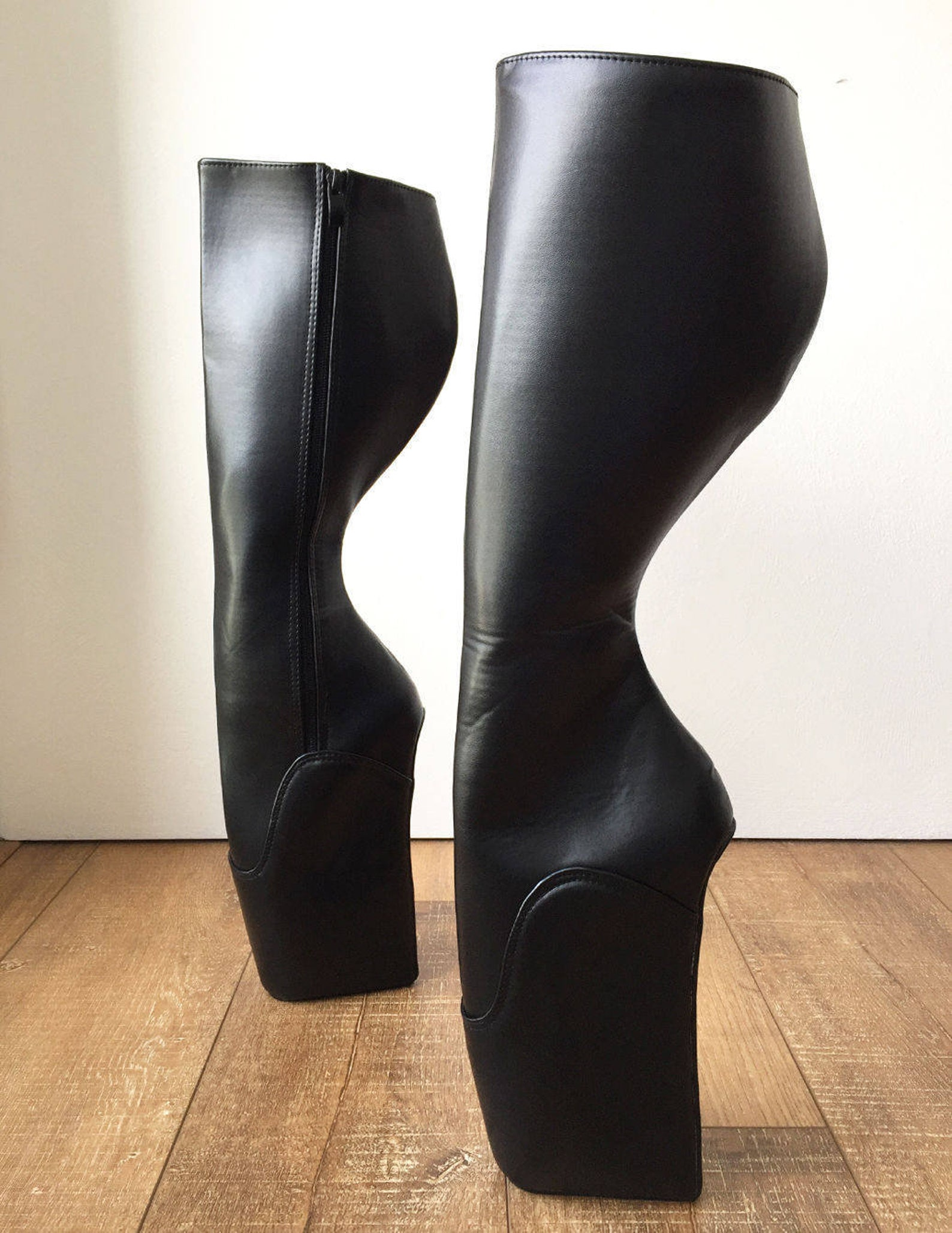 rtbu soap (zip) custom circumference fetish ballet wedge pointe knee boots hoof