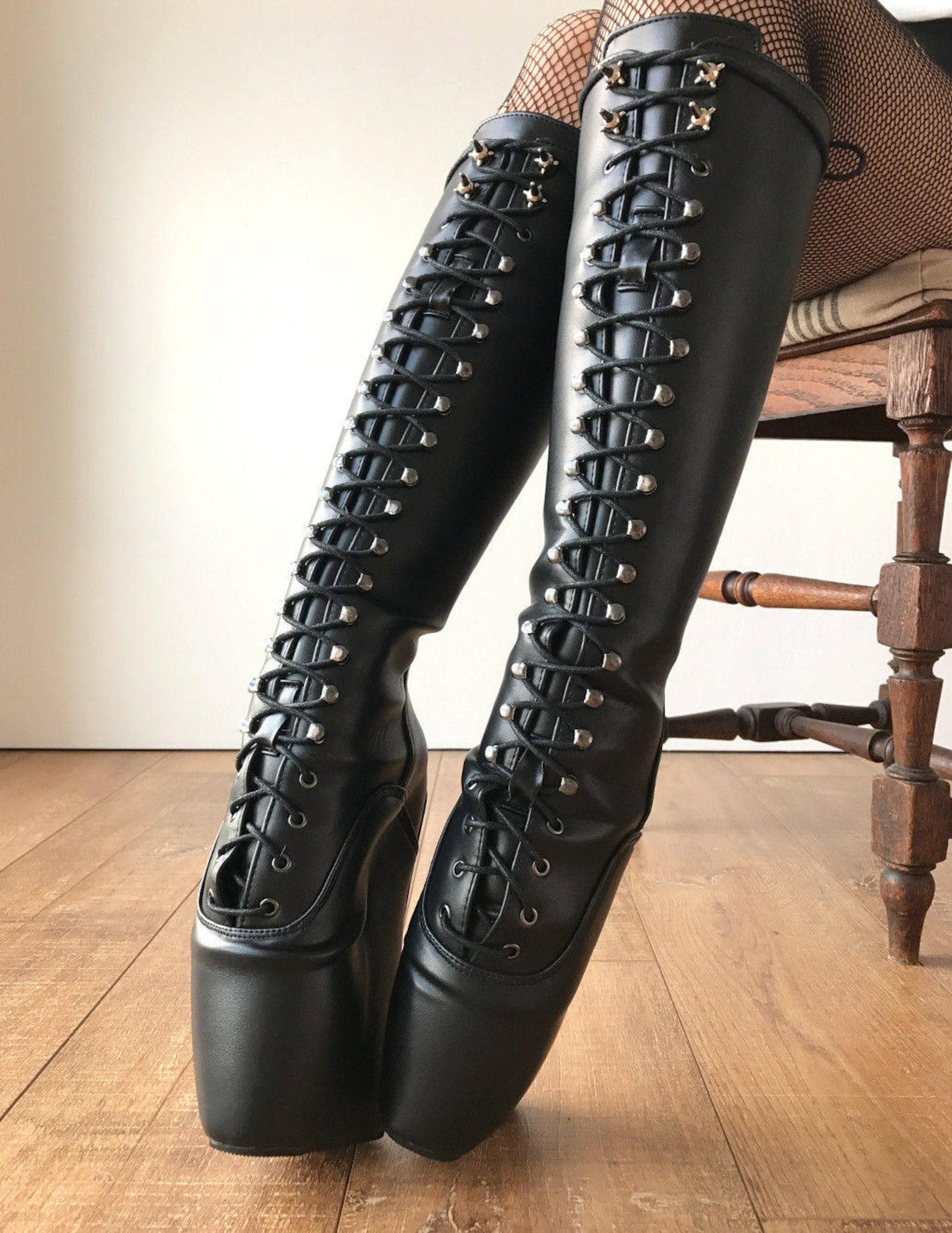 rtbu ballet wedge knee hi saturn spike stud speed hook matte black