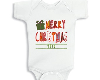 Festive Threads Unisex Baby Dear Santa Was My Brothers Fault T-Shirt Romper