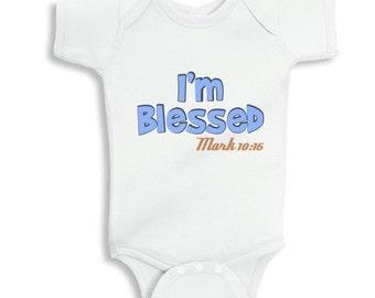 Im Blessed Mark 1016 Faith Baby Girl Bodysuit Or Infant Etsy