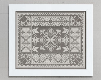 Slavic Cushion Pattern - Cross Stitch Chart - Instant Download PDF