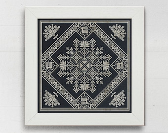 Winter Stars: A Seasonal Celebration - Instant Download PDF cross-stitch pattern