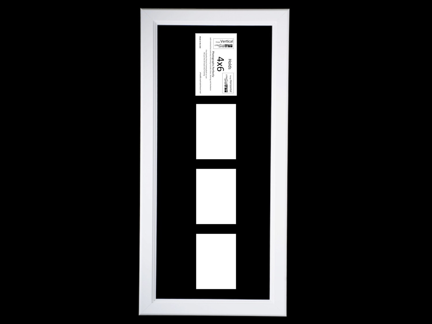 4x6 Vertical Multiple 2 3 4 5 6 Opening White Picture Frame with Mat ...
