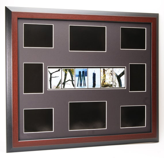 Family Tree Picture Collage Frame With Nature Themed Alphabet Etsy