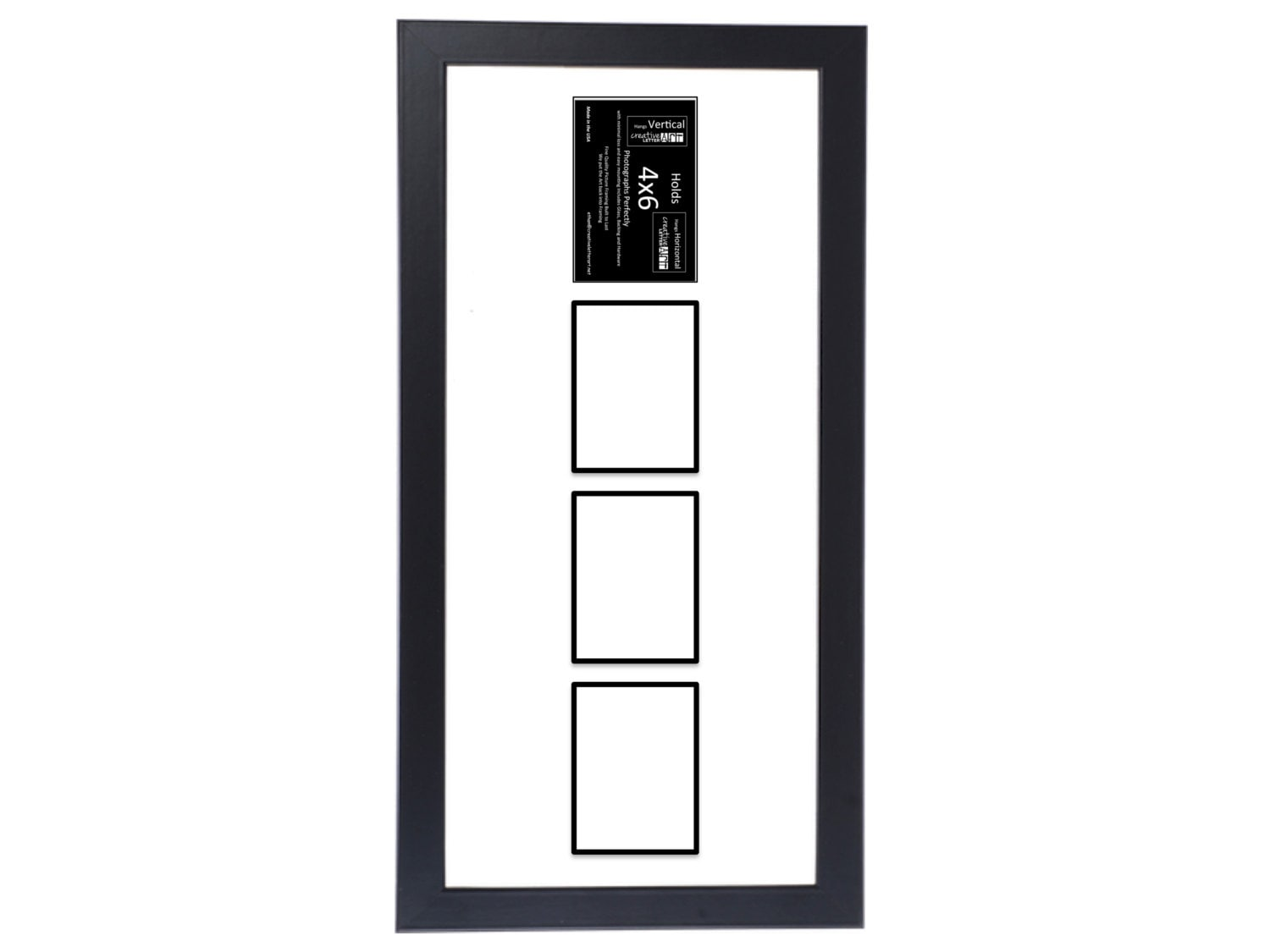 4x6 Vertical Multiple 2 3 4 5 6 Opening Black Picture Frame Etsy