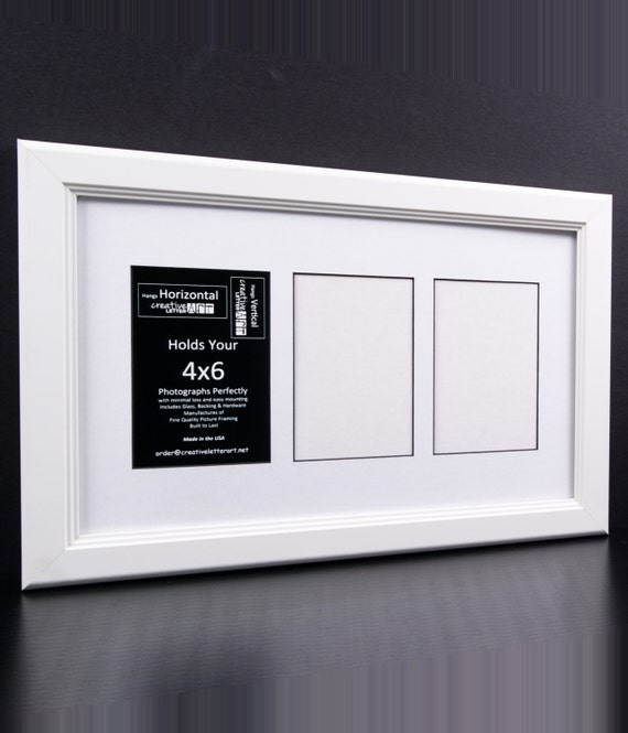 4x6 Multiple 3 4 5 6 7 8 9 10 Opening White Picture Frame With Etsy
