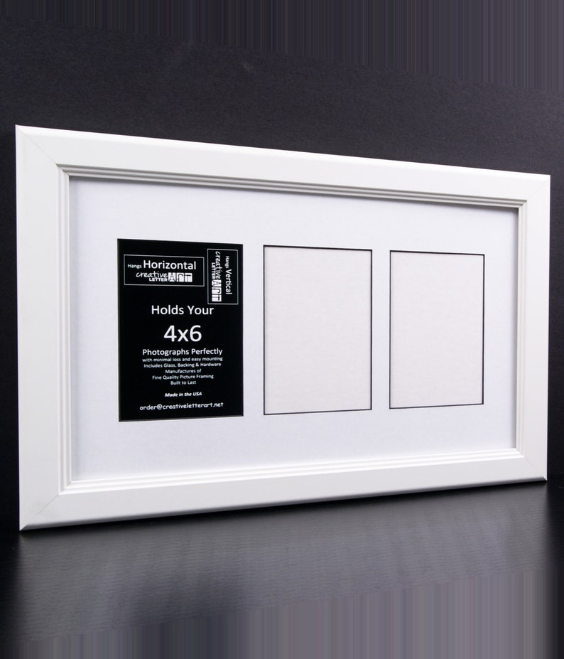 ee87fe7d7d5 4x6 Multiple 3 4 5 6 7 8 9 10 Opening White Picture Frame with