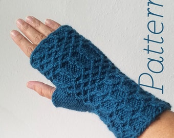 Knit Fingerless Gloves Pattern // Maille – Pattern Only – PDF Download