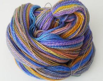 Handspun Yarn   Hand Dyed Wool   Sock/ Light Fingering   2-ply   Summer Party
