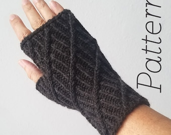 Knit Fingerless Gloves Pattern // Nautilus – Pattern Only – PDF Download