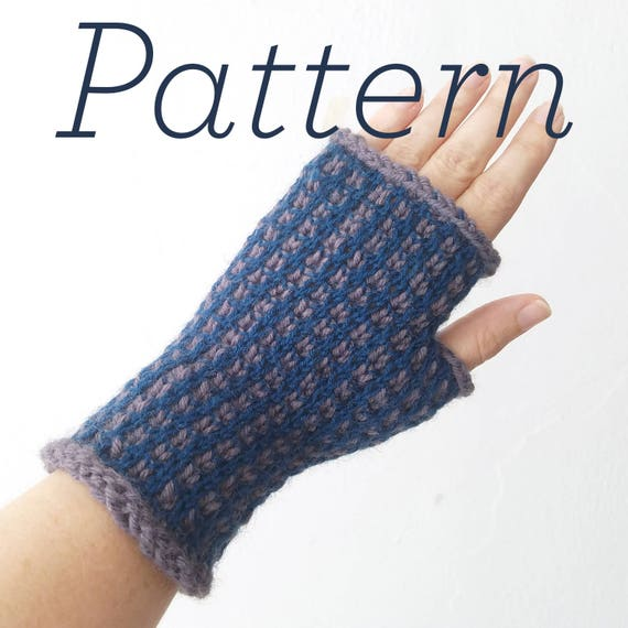 Knit Fingerless Gloves Pattern Graph Paper Mitts Pattern Etsy