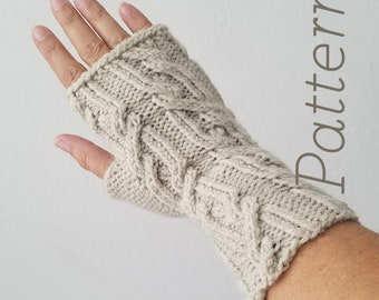 Knit Fingerless Gloves Pattern // Fates – Pattern Only – PDF Download