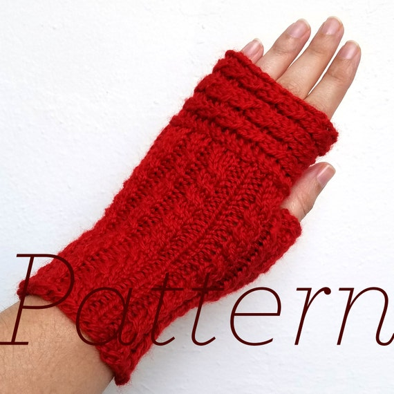 Knit Fingerless Gloves Pattern Up Over Mitts Pattern Etsy