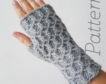 Knit Fingerless Gloves Pattern // Ripple – Pattern Only – PDF Download