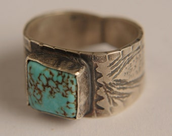 Sterling silver ring with stones