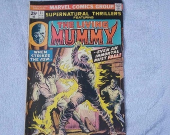 Marvel Supernatural Thrillers Living Mummy #11 February 1975 comic book vintage